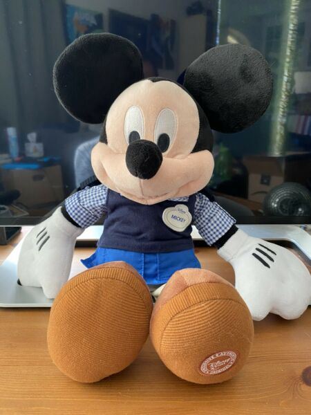 Mickey Mouse Plush Cast Member Disney Store Exclusive Dressed As Cast Member