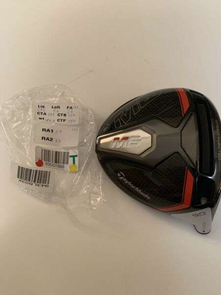 Tour Issue Taylormade M6 Driver Head Only HIGH CT 9.6 Degree RH See Specs - HOT