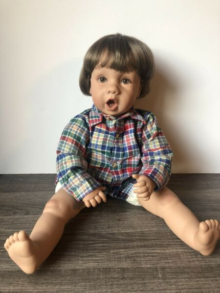 1995 Pat Secrist OH MY First Tooth Boy Doll - Vinyl Head and Limbs - Brown Hair