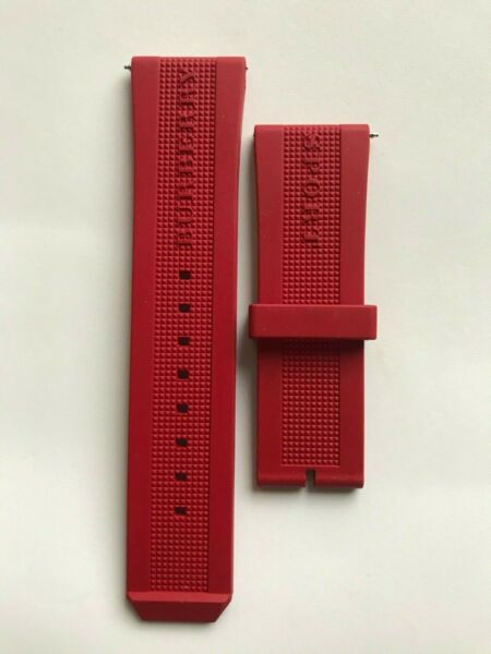 Burberry Genuine Red Silicone Watch Band. 24mm $35.00
