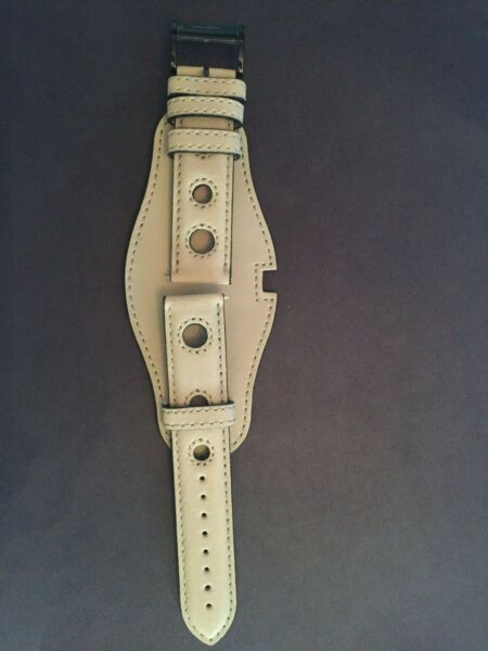 Burberry Genuine Beige Leather Watch Band. 22mm $45.00