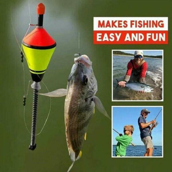 Automatic Fishing Bobbers Float Bite Fishing Tackle Stainless Steel Hook $4.68