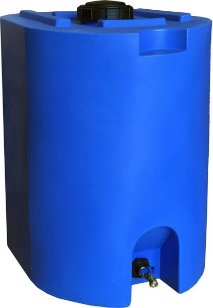 55 Gallon Water Storage Tank Barrel Container Plastic Emergency Water Storage $184.00