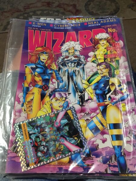 Wizard The Guide To Comics 14 16 22 77 Sealed Magazines X-Men Spawn Joe Quesada $4.95