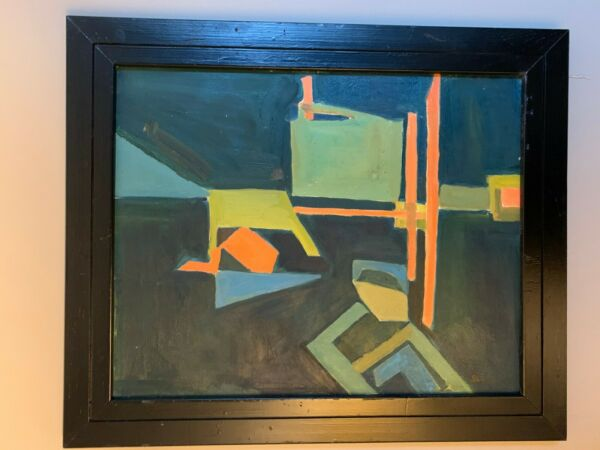 Geometric Abstraction oil on canvas Charles Green Shaw signed listed abstract