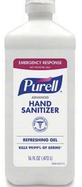 2 X Purell Advanced Instant Hand Sanitizer 16 oz. Flip Cap with 70% Alcohol