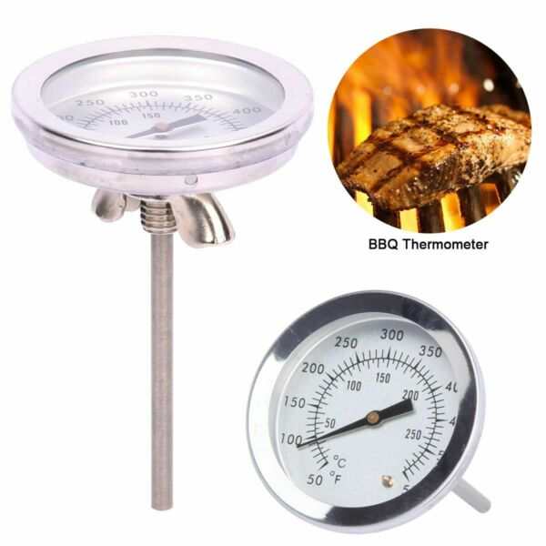 0 300℃ BBQ Smoker Grill Stainless Steel Barbecue Thermometer Temperature Gauge