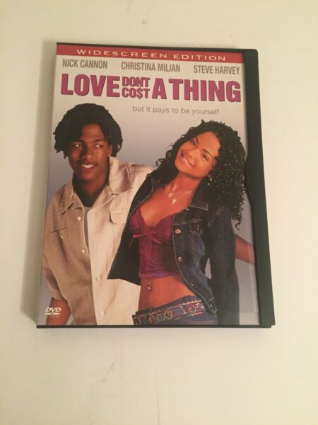 Love Don't Cost A Thing DVD In Snapcase Widescreen Nick Cannon $3.90