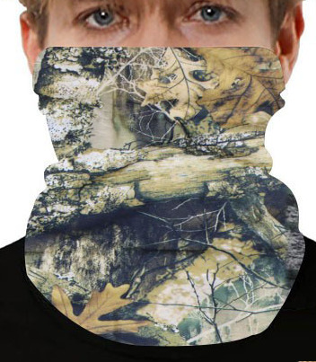 Real Tree Leaf Hunting Camo Camouflage Neck Gaiter Gaitor Face Mask Covering