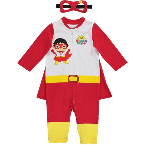Ryan#x27;s World Red Titan Baby Boys Costume Coverall Cape and Mask Set $19.99