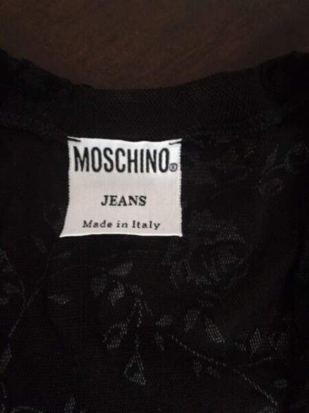 Moschino Jeans Black Sheer Top Size S $10.99