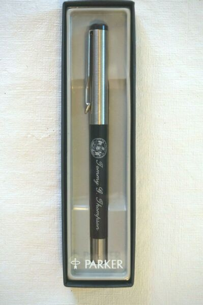 Parker Pen Governor Tommy Thompson Pen in Box Blue Ink Political Republican $19.50