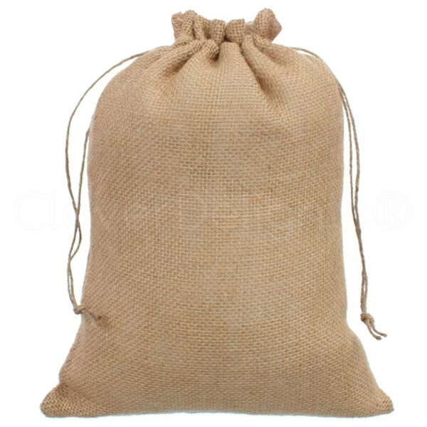 10quot; x 14quot; Burlap Bags with Natural Jute Drawstring Pouch Sack Bag 10x14 Inch