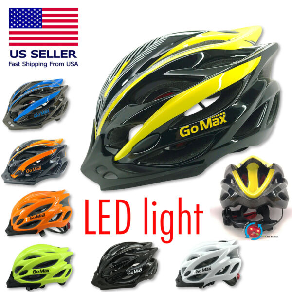 GoMax Bicycle Helmet Safety Cycling MTB Adult Mountain Road Bike LED Tail Light $35.28
