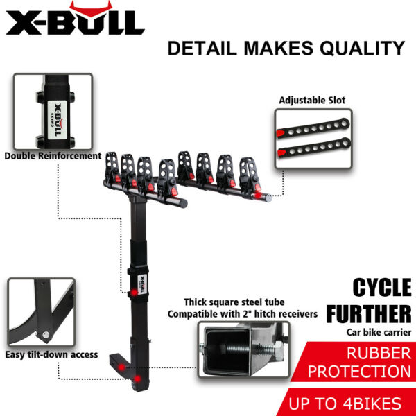 ZEMANOR Bike Rack Bicycle Carrier 4 Hitch Mount Cars Trucks SUV $109.90