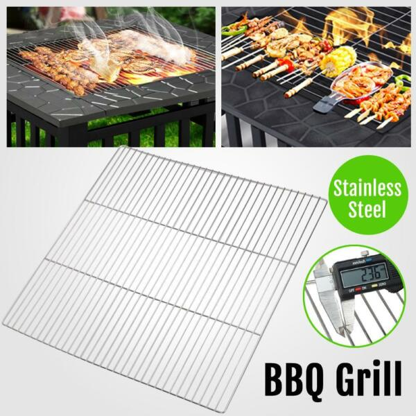 Fire Pit Grill Grate 20.1x20.1'' BBQ Grilling Rack Barbeque Stainless Steel