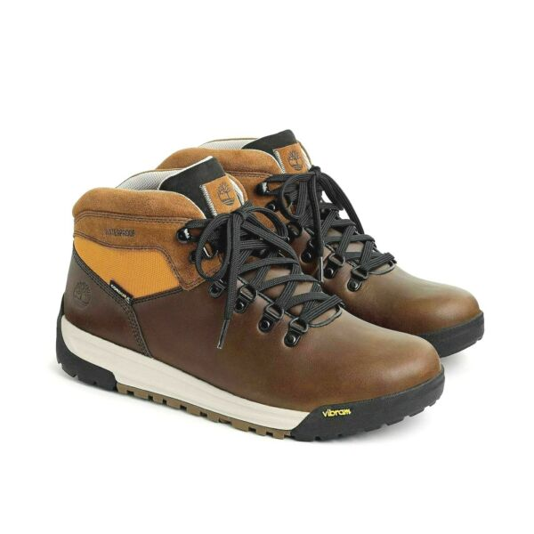 Timberland for J.Crew GT Scramble Hiking Boots 9 10.5 Brown Leather Shoes J9290 $79.99