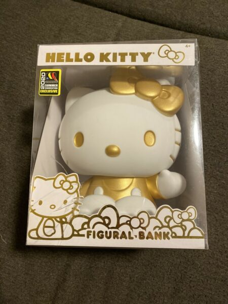 SDCC 2020 Sanrio Hello Kitty Gold Figural Bank Damaged Packaging