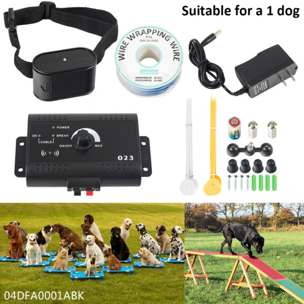 Waterproof Shock Collar Electric Dog Pet Fence Fencing System For 1 2 3 Dogs
