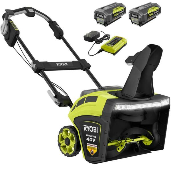 RYOBI Cordless Electric Snow Blower 21 in. 40 Volt Brushless Battery Charger