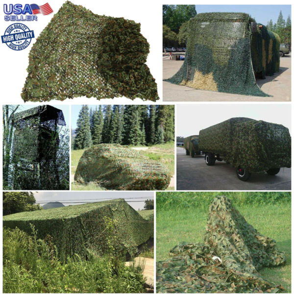4x6M Camouflage Camo Net Cover Netting Hide Hunting Military Army Woodland Camp