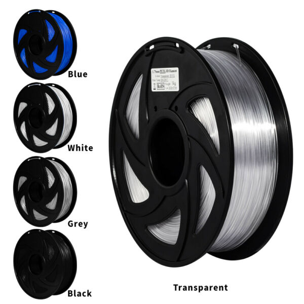 3D printer 1.75mm PETG Filament 1KG 2.2lb Black White Blue Roll Colorful PLA $17.99