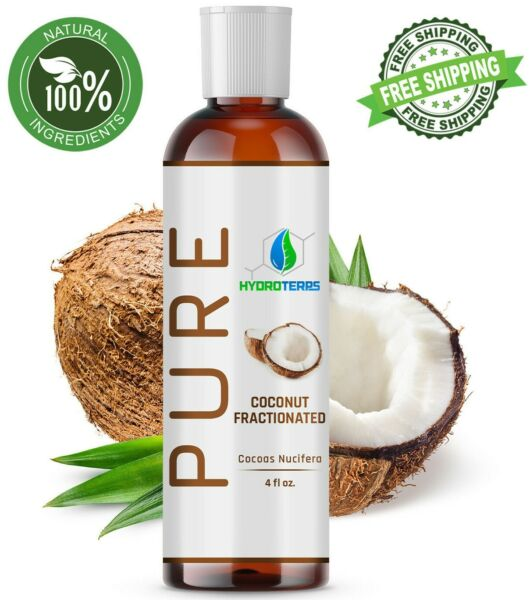 Fractionated Coconut Oil 4 oz 100% Pure Natural For Skin Hair Growth amp; Massage $7.95