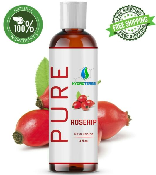 Rosehip Seed Oil 4 oz Cold Pressed REFINED 100% Pure Organic For Skin Face Hair