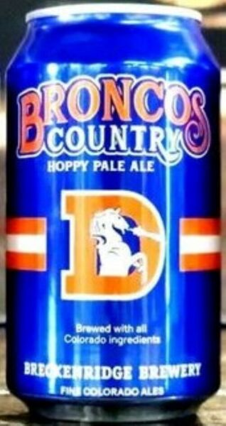 BRONCOS COUNTRY HOPPY PALE ALE BEER CAN 12 OZ. BRECKENRIDGE BREWERY
