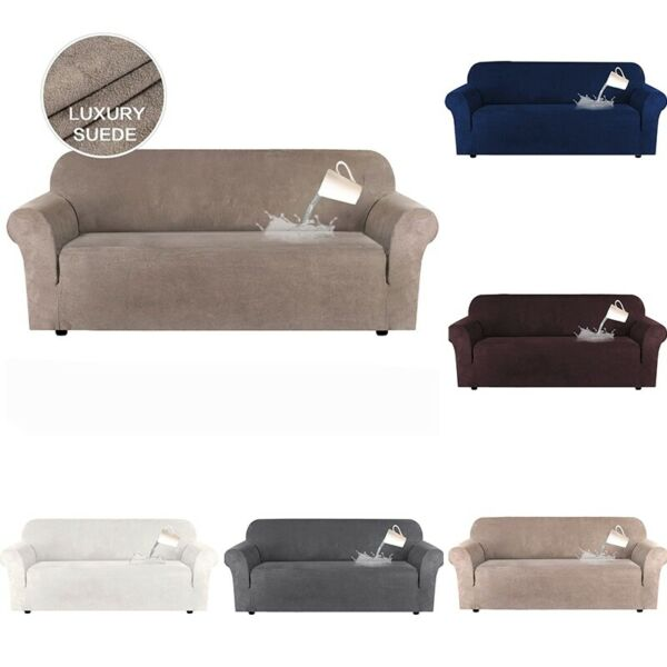 1 4 seat Sofa Cover Pet Couch Slipcover Water Resistant Sofa Protector Antislip $56.94