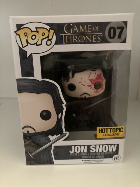 John Snow Bloody Dead #07 Game Of Thrones 2016 Hot Topic Exclusive Funko Pop