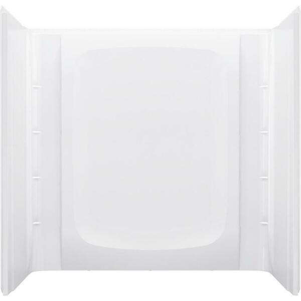 STERLING Alcove Wall Surround 30 in. W x 60 in. H White Composite 3 Piece