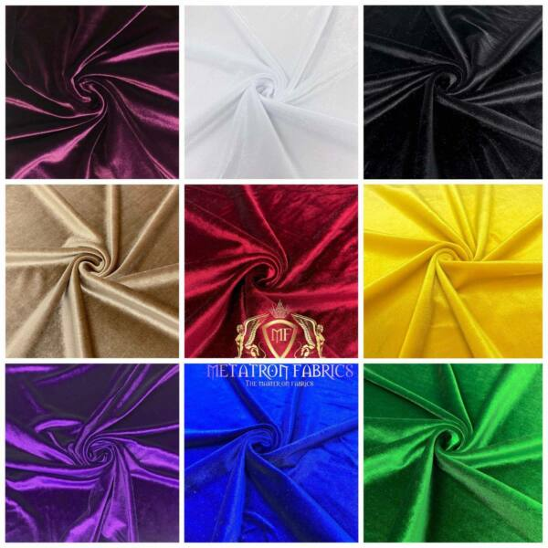 Spandex Stretch Velvet Fabric 60#x27;#x27; Wide by The Yard {Choose The Color}