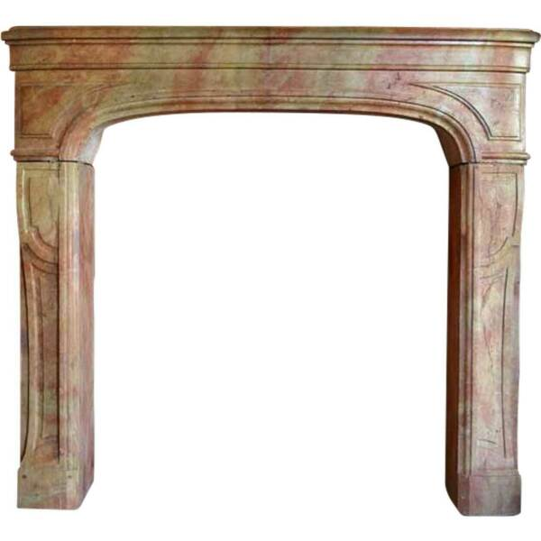 Small Antique French Louis XIV Period Bourguignon Stone Fireplace 18th century