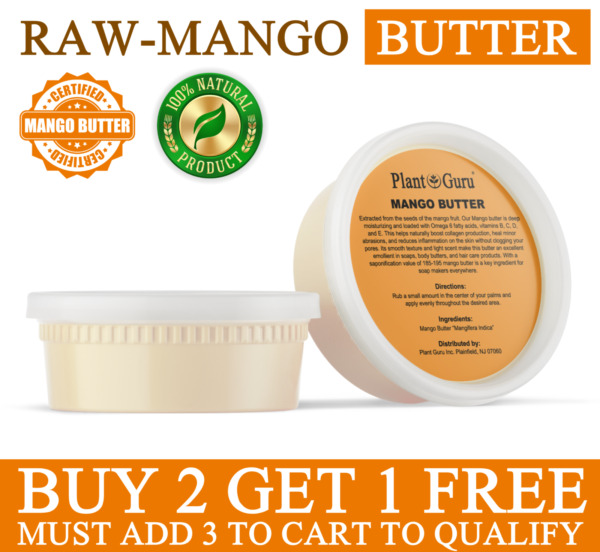 Mango Butter Raw 8 oz. 100% Pure Unrefined Organic Natural For Skin Body Hair $9.95