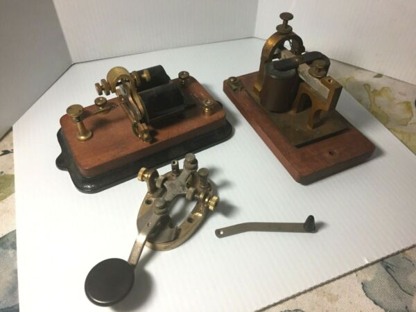 Antique Signal Electric Telegraph Relay Sounder 150 Ohms amp; 3 Other Extras