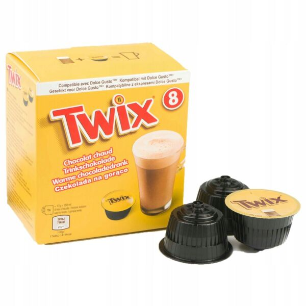 TWIX caramel bar hot chocolatepods for Dolce Gusto 8 capsules FREE Ship