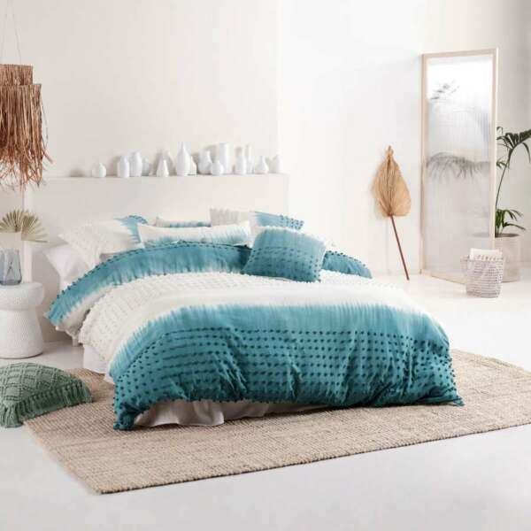 Linen House Basque Reef Quilt Duvet Doona Cover Set 100% Cotton NEW AU $255.99
