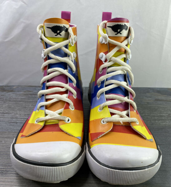 Rocket Dog Rainbow Rain C392 Boots Women#x27;s Size 7.5 Rainbow $25.00