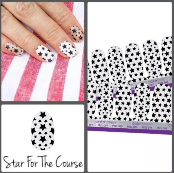 STAR FOR THE COURSE Color Street Nail Strips CLEAR OVERLAY Retired NEW SEALED $17.97