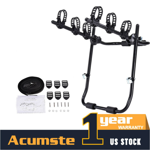 3 Bicycle Trunk Mount Portable Bike Carrier Rack Hatchback for SUV amp; Car Sport $45.99