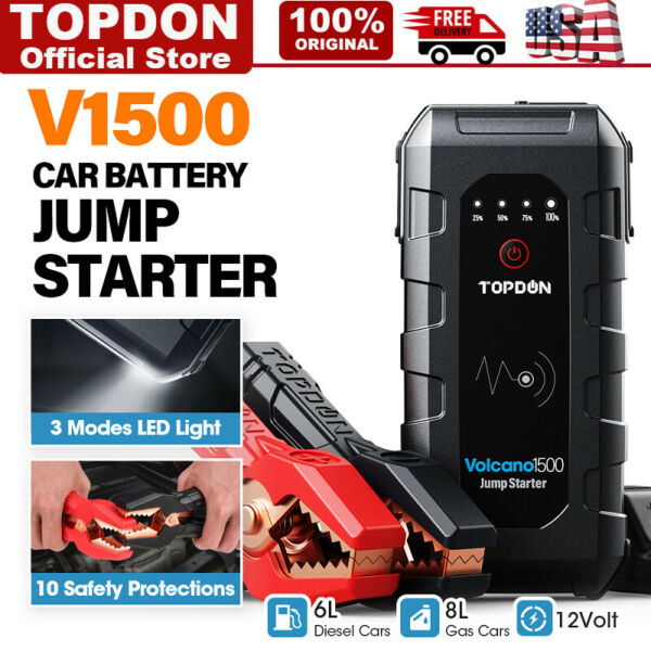 Jump Starter Portable Car Battery Pack 12V Auto Battery Charger Booster Jumper $48.99