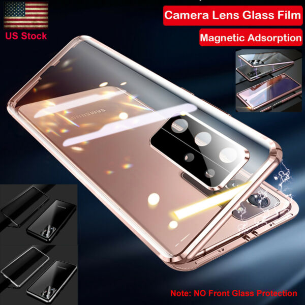 For Samsung Galaxy Note 20 Ultra Metal Magnetic Tempered Glass Case Lens Cover $12.49