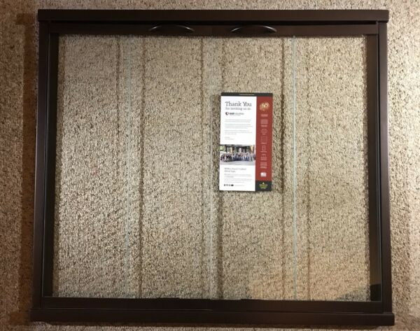 Stoll Fireplace Glass Door Industrial Steel Brown 38 x 33 Clear Glass