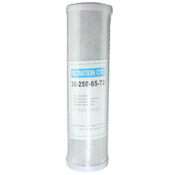 Replacement 10quot; Activated Carbon Water Filter Cartridge RO CTO 5 Micron