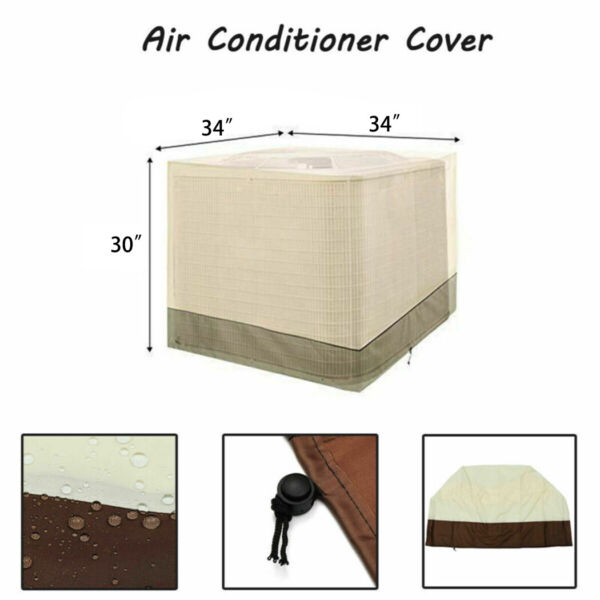Air Conditioner Cover Heavy Duty Universal AC Unit Central Outdoor 34*34*30inch $25.19