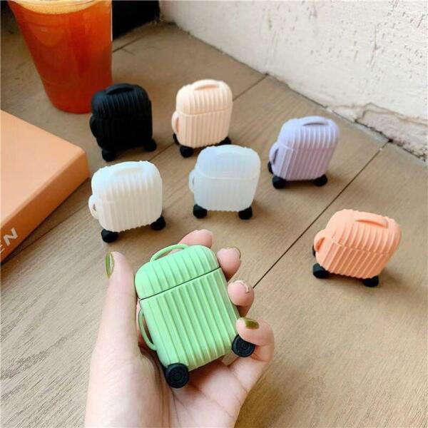 luxury For AirPods Case mini trunk box Earphone Accessories Case funda Cute Simp $6.99