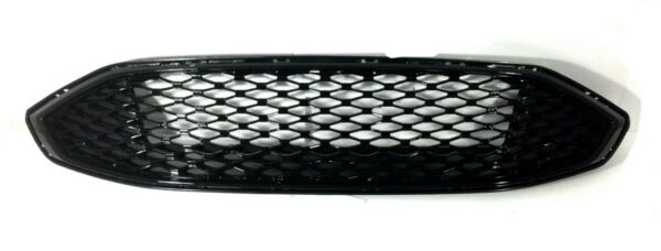 FOR 17 18 Ford Fusion Front Bumper Gloss Black Trim Honeycomb Grille Grill