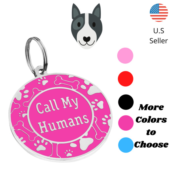 Buy 4 Get 1 Free √ Cute Dog Tags Dog Tag Cat Tags Pet Tag Engrave Personalized $3.95