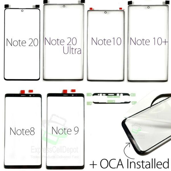 Samsung Galaxy Note 20 Ultra 10 10 9 8 Replacement Screen Front Outer GlassOCA